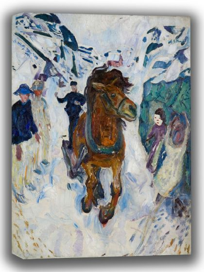 Munch, Edvard: Galloping Horse. Fine Art Canvas. Sizes: A4/A3/A2/A1 (0085)